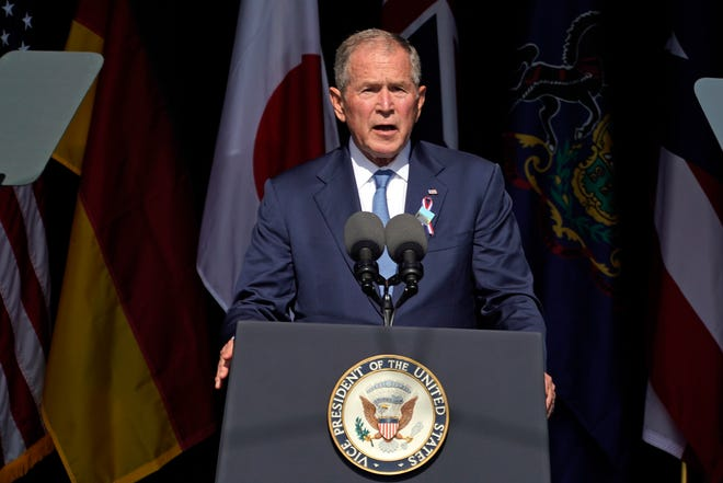 Bush calls on Americans to 'confront' domestic extremists and foreign terrorists in 9/11 remarks