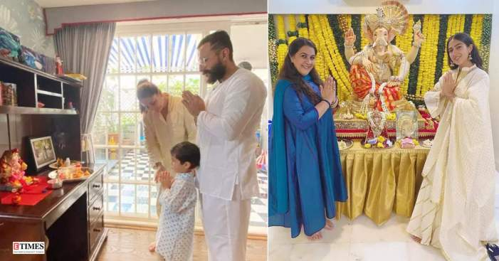 From Kareena Kapoor to Sara Ali Khan, stars welcome Bappa at home with full enthusiasm! | Photogallery