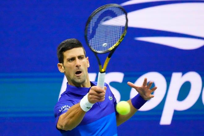 Novak Djokovic tops Alexander Zverev to reach US Open men's final, one win from calendar Grand Slam