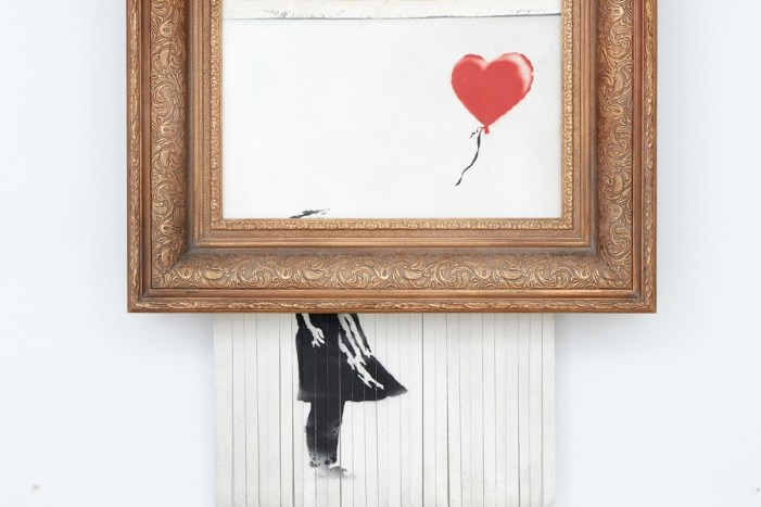 That shredded Banksy artwork is returning to auction at 4 times the price