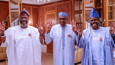Photo of PHOTOS: Amosun Leads APM Governorship Candidate To Meet Buhari