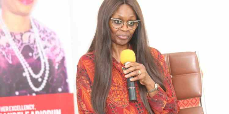 The wife of the Ogun state governor, Mrs. Bamidele Abiodun