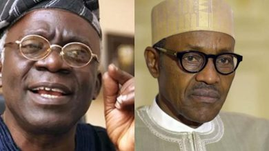 Photo of Falana reveals minister behind Buhari's refusal to obey court orders