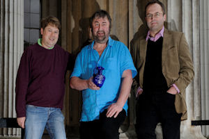 professor Thomas (right) with the co-Directors of the Stonehenge project