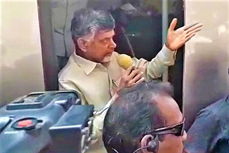 Naidu was on his way to a 'Janmabhoomi - Maa Vooru' event in East Godavari district when BJP workers attempted to block him.