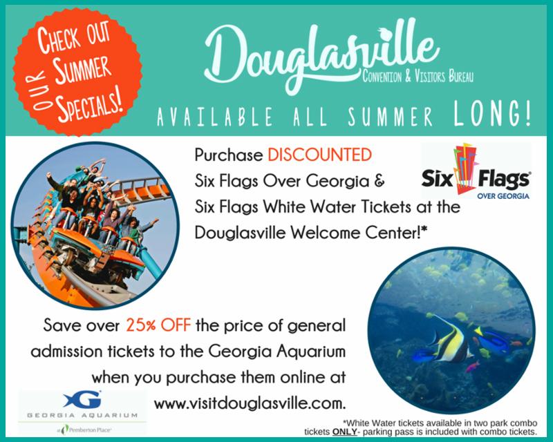 Douglasville CVB Summer Specials