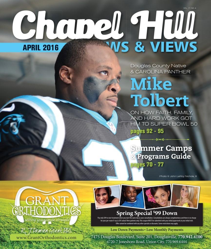 Mike Tolbert - Chapel Hill News & Views April 2016 Cover