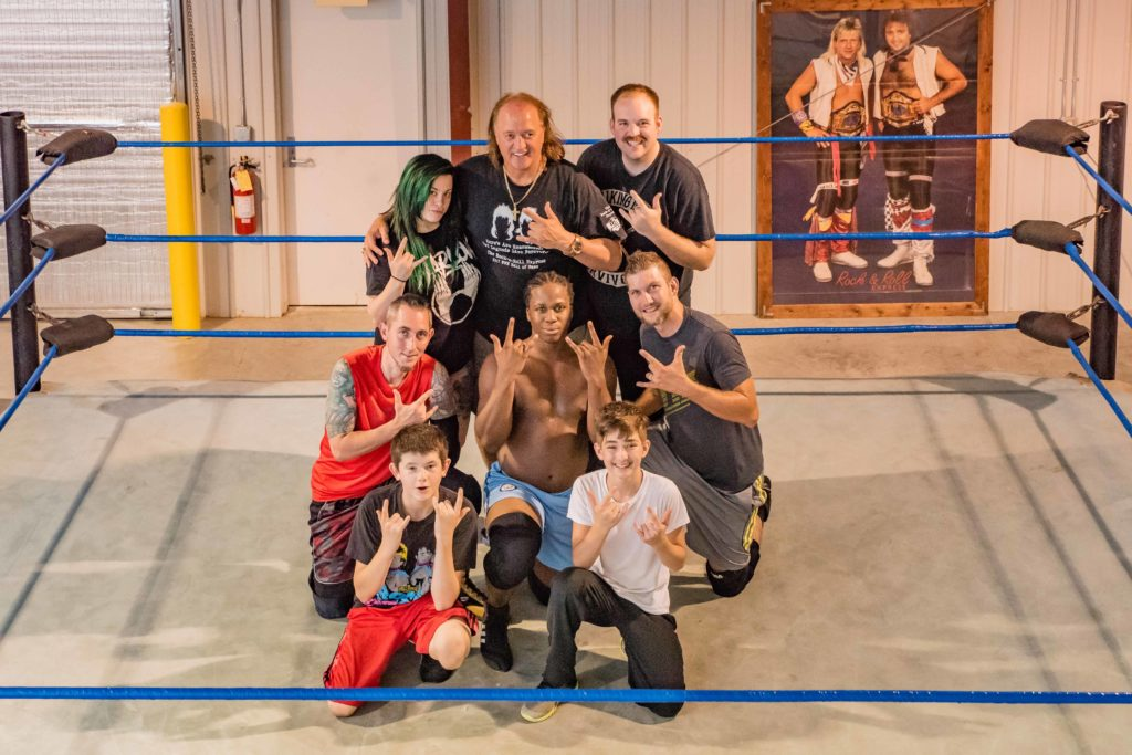 Robert Gibson at Douglasville Wrestling school
