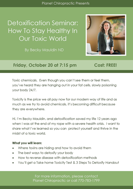 Detoxification Seminar