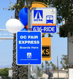 OC Fair Express Sign