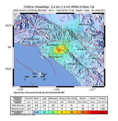 5.3 M earthquake hits OC and LA on March 28