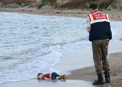 Photo of Aylan Kurdi by Nilüfer Demir via the Associated Press