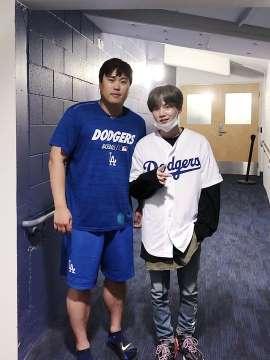 BTS-Suga- Dodgers-pitcher-Ryu