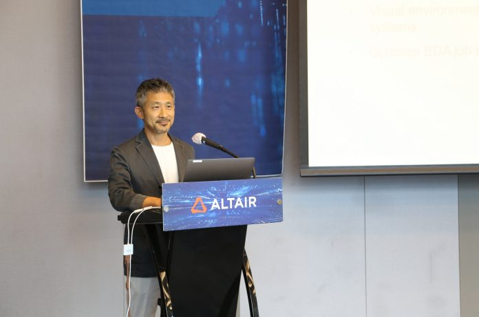 Altair Korea chief Moon Song-soo speaks during a press conference timed with the launch of an advanced data analytics platform called Knowledge Works in Seoul on July 21. Photo courtesy of Altair Korea