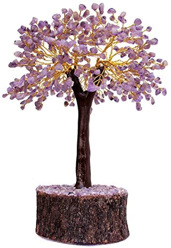 """Divine Magic Natural Handmade Healing Amethyst Crystal Gemstone Tree Large – 500 Chips 11"""" Tall 