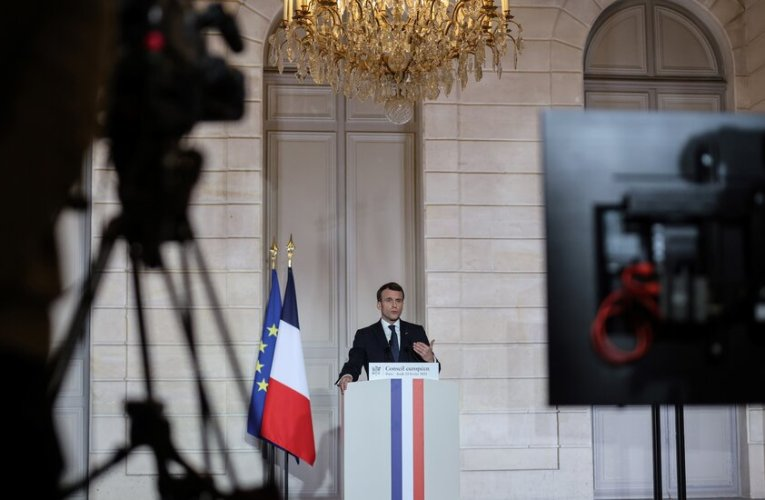 Eyeing Re-Election, Macron Walks a Tightrope Above Swirling Crises in France