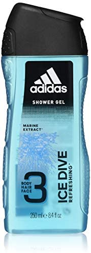 Adidas Sport Sensation Ice Dive 3in1 Shower Gel for Men, 250ml