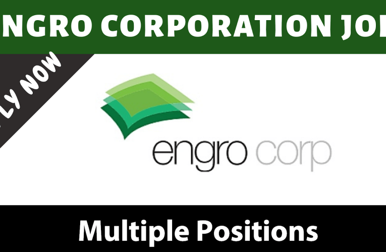 Engro Corporation Ltd Jobs April 2021