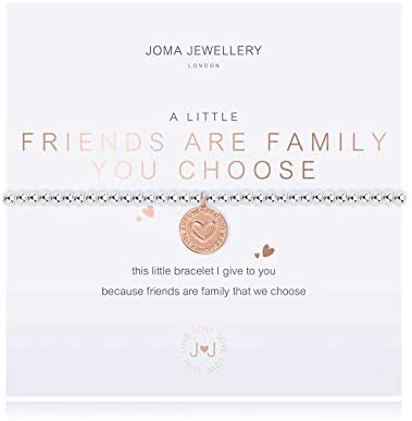 Joma Jewellery A Little Friends are The Family You Choose Silver Bracelet   17.5cm Stretch