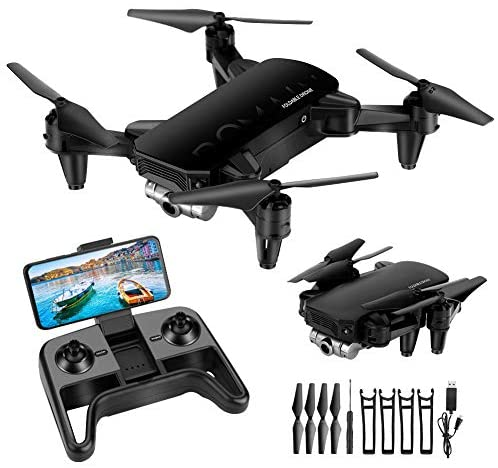 Mini Drone, Foldable Drone with 4K HD Camera for Beginners, FPV Drone RC Live Video Quadcopter, App Control, 3D Flips and Headless Mode, One Key Altitude Hold, with 2 Batteries 24 Mins