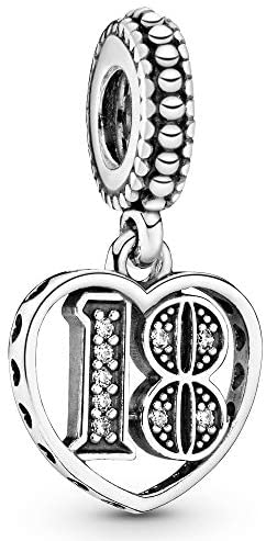 Pandora Ladies Moments 18th Birthday Charm Sterling Silver Cubic Zirconia 797262CZ
