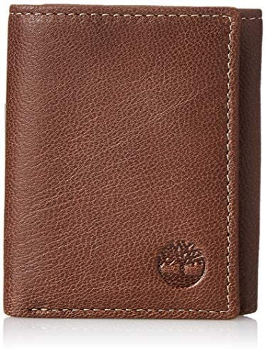 Timberland Men's Leather RFID Blocking Trifold Security Wallet Travel Accessory-Tri-Fold