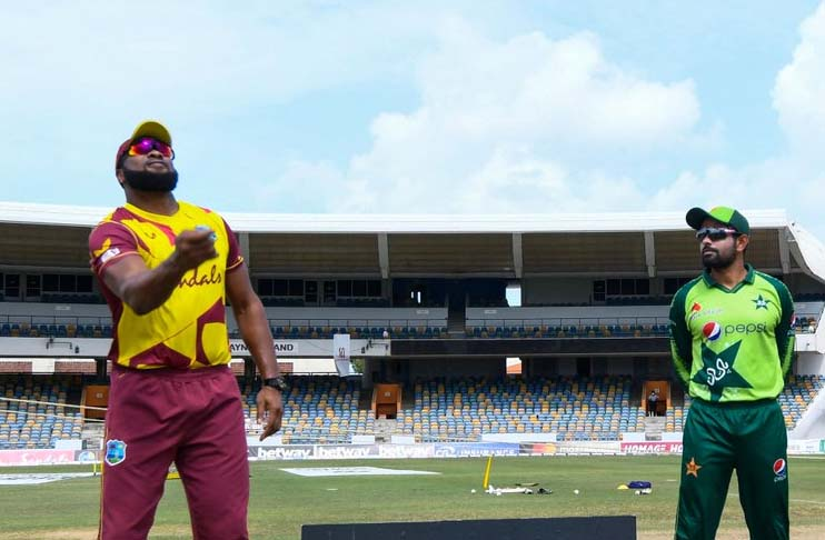 Unchanged Pakistan bowls first in fourth T20I against West Indies