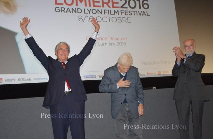 Jean-Loup Dabadie, Guy Bedos et Nicolas Seydoux au Pathé Bellecour