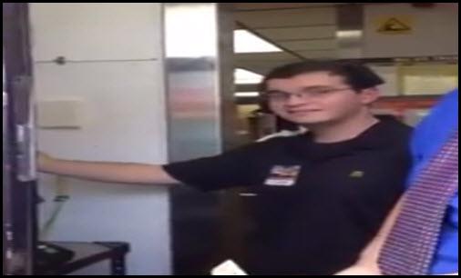 mcdonalds employee has recording voice