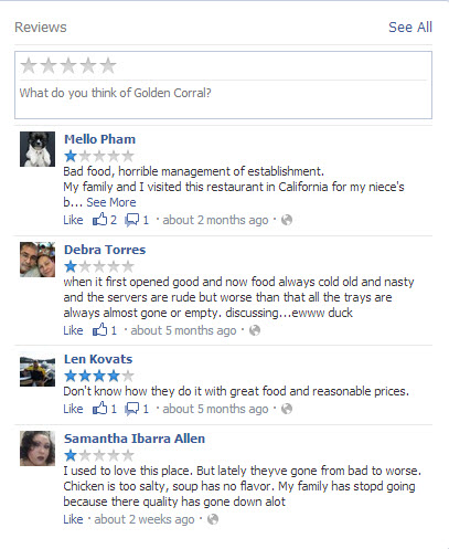 Golden Corral Restaurant Canton Ohio