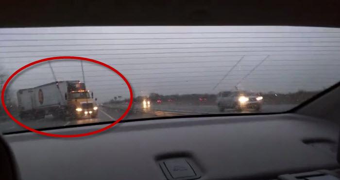 Semi Truck Misses Man by Inches on NJ Turnpike - NewsAsylum
