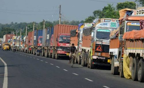 Border blockade imposed by India on Nepal