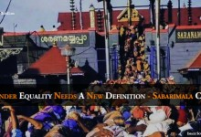 Photo of Gender Equality Needs A New Definition – Sabarimala Case