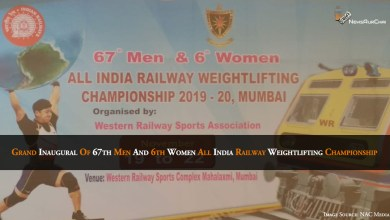 67th men and 6th women all India Railway weightlifting championship 2019-20