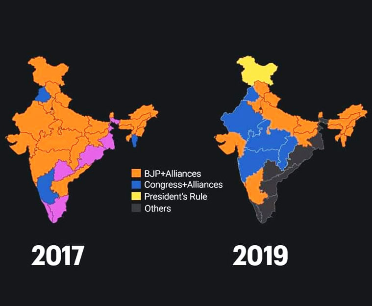 Saffron Hues Are Shrinking From India's Map. What's Next For BJP?