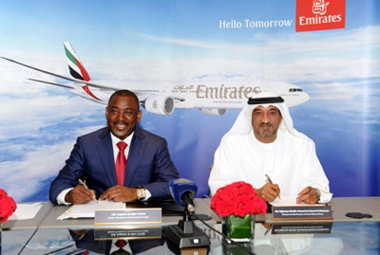 O acordo entre o Governo da República de Angola e a Emirates Airline foi assinado na Cidade do Dubai no dia 30 de Setembro de 2014.