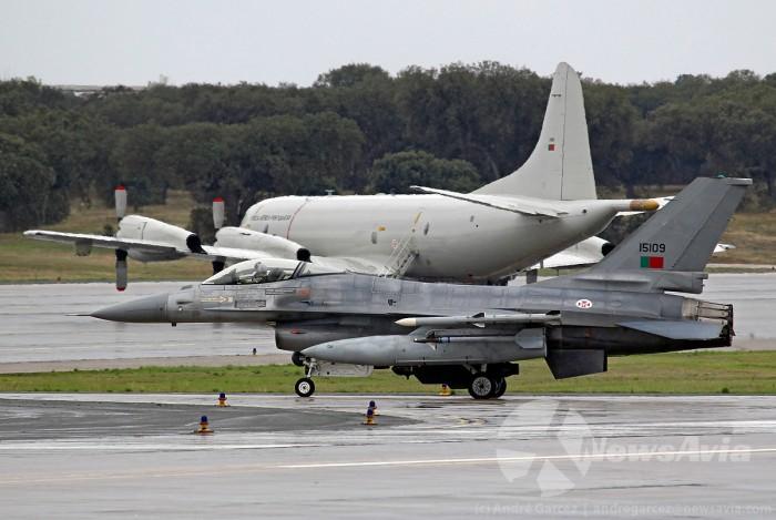 Portugal participa no TJ15 com caças F-16, uma aeronave de vigilância P-3C Orion, e um helicóptero EH-101 Merlin