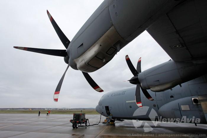 Dois C-130J canadianos atravessaram o Atlântico até Beja. O Canadá é uma das nações que participa com mais meios no Trident, estando também presente em Espanha e Itália