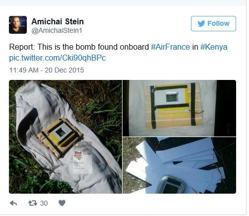 Air France Bomba_Mombaça 2015-12-20 Twitter