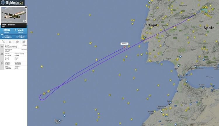 Iberia avaria EC-JCY Flightradar 30dez15 1100px