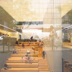 Biblioteca em frente ao MoMA