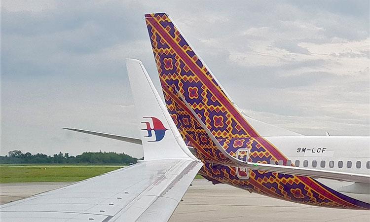 Figura 4: Cauda Boeing 737 da Malindo em Penang