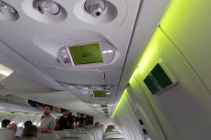 AirBaltic A220 display