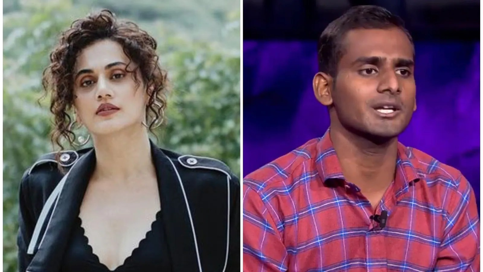 Taapsee Pannu replies to Kaun Banega Crorepati 13 contestant's question about her that stumped Amitabh Bachchan