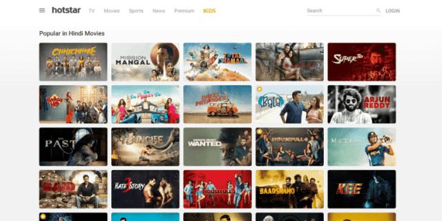 बॉलीवुड फिल्में हॉटस्टार पर