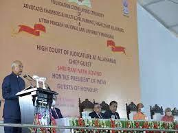 President of India lays foundation stone for Uttar Pradesh National Law University