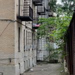 Naked and 'deranged' Brooklyn mom throws her newborn baby and two-year-old son out of a second-floor window: Neighbor has to intervene to save them