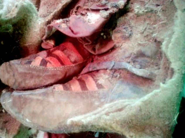 1,500-year-old mummy found wearing 'Adidas boots'