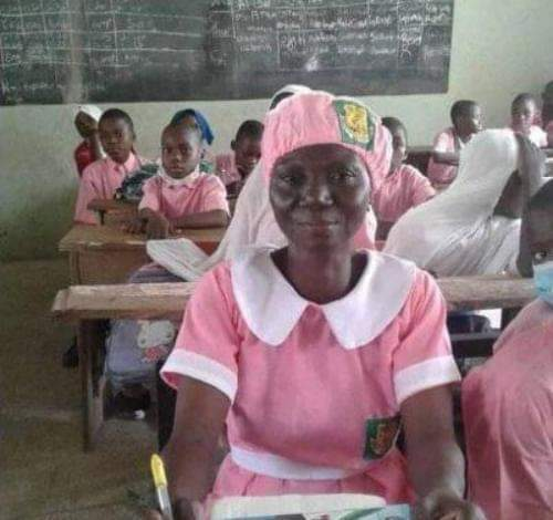 50-year-old woman enrols in Ilorin Grammar School