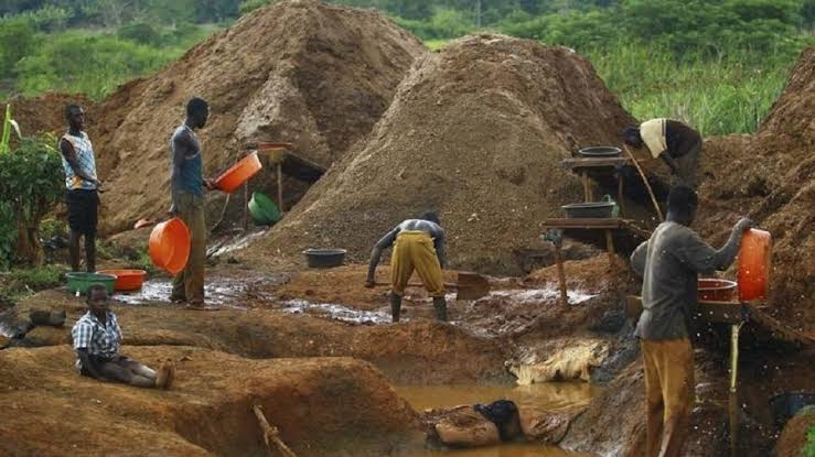 File photo of a gold mining site